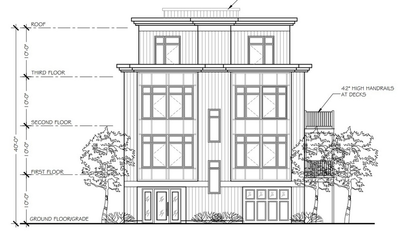 Ground up new construction of this 5 unit luxury condo building with penthouse, roof deck and garage parking