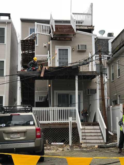 rebuild rear deck in south boston