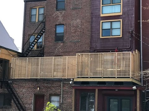 east boston, boston, rebuild deck, gopro, timelapse, deck, roof replacement, red cedar, privacy fence, ,trex decking, composite,