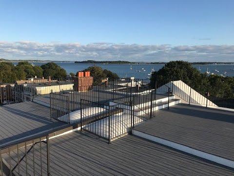 south boston, boston, roof deck, comm,on roof deck, gopro, timelapse, trex composite decking, black metal handrails, custom