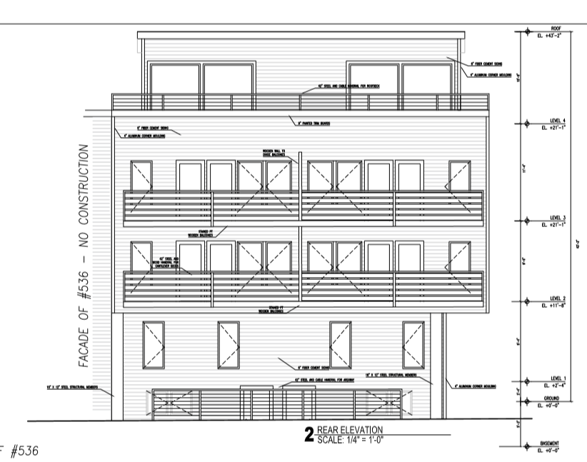 534 R Dorchester Ave Rear Elevation