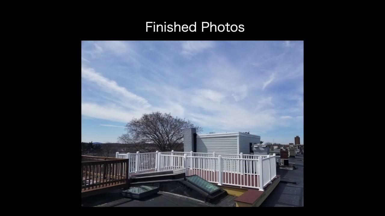 south boston, roof deck, deck, gopro, timelapse, video, trex, composite, hatch