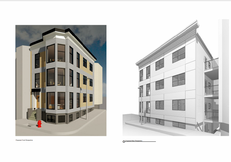 ARCHITECTURAL DRAWING FOR FULL GUT REMODEL FIRE RESTORATION SOUTH BOSTON